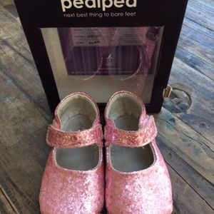 Pediped Pink Delaney Glitter Mary Jane Shoes 18-24